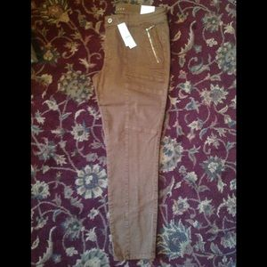 WHBM Skimmer Ankle pants NWT sz12 Whiskey $35